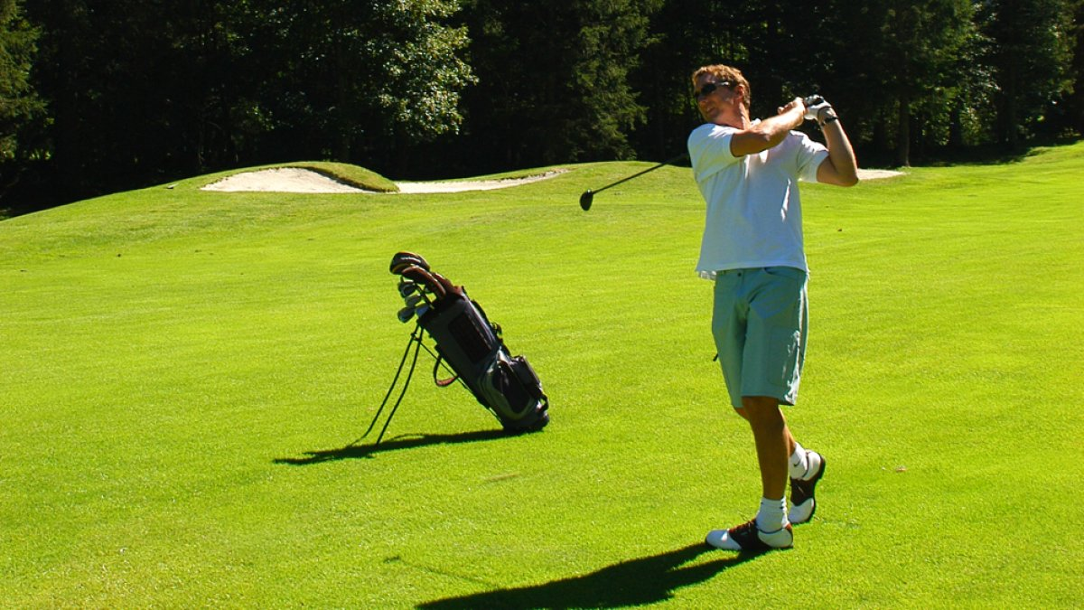 swings au golf de Chamonix